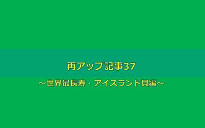 【世界最長寿の貝編】再アップ記事37